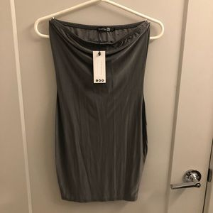 Boohoo fitted tube mini dress